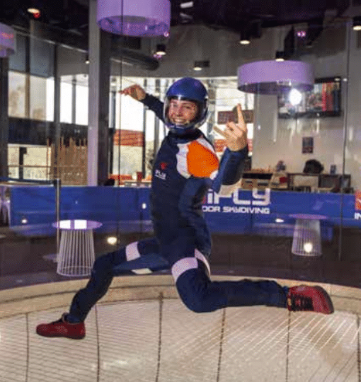 A flyer at iFly