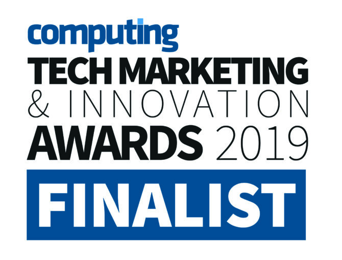 Finalist graphic for the 2019 Computing Tech Marketing & Innovation Awards