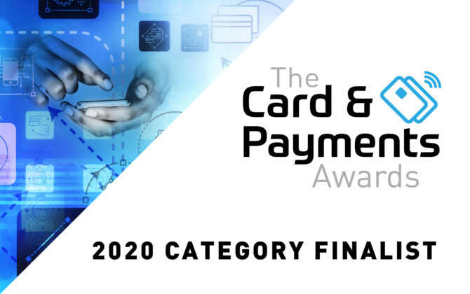 The Card & Payments Awards 2020 Category Finalist Graphic