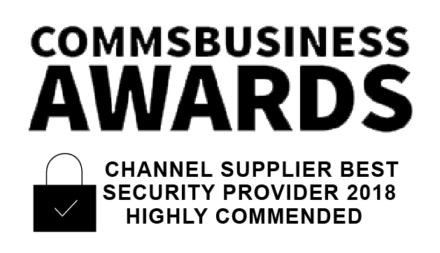 Comms Business Awards 2018 logo for channel supplier best security provider
