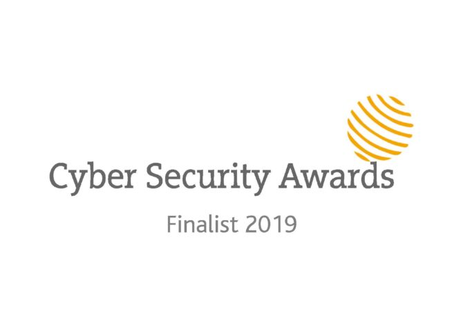 Finalist graphic for the 2019 Cyber Security Awards