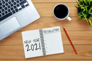 New Year 2021. Feature image for making compliance a habit.