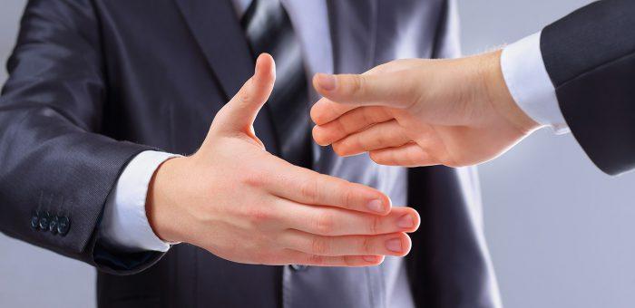 Partners handshake