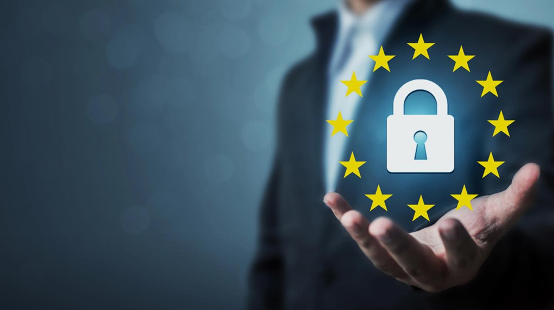 GDPR Privacy lock held in hand