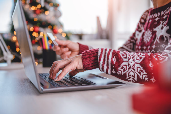 Paying for Christmas shopping online