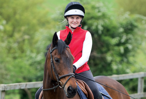 Lady horse riding
