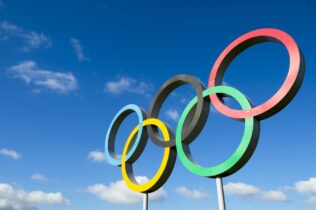 Olympic rings in the sky