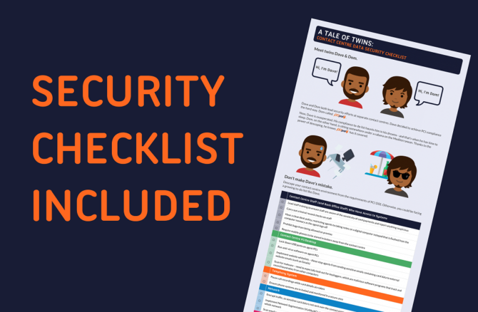 Shows image of a checklist and text that reads Security Checklist Included